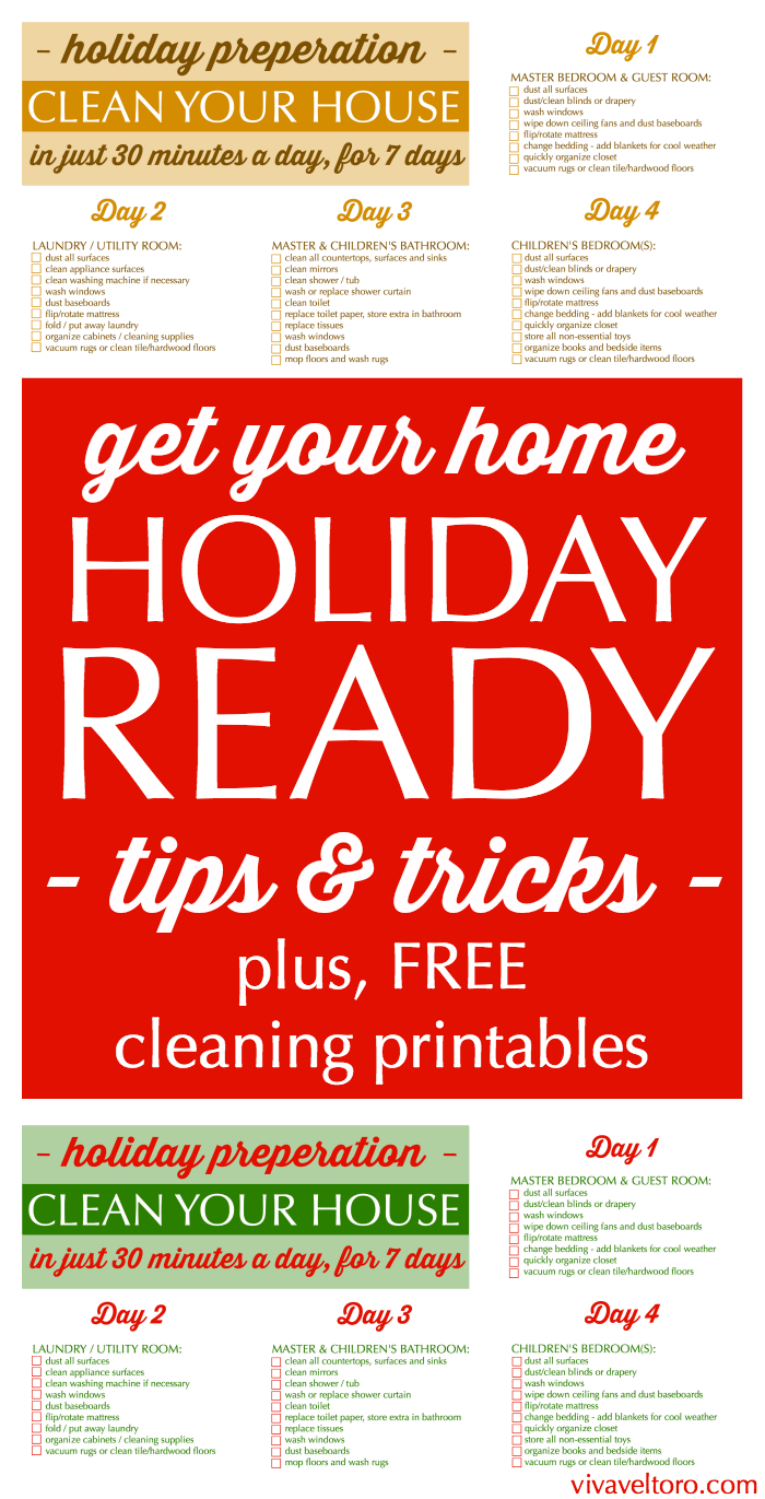 get your home holiday ready in just 30 minutes a day for 7