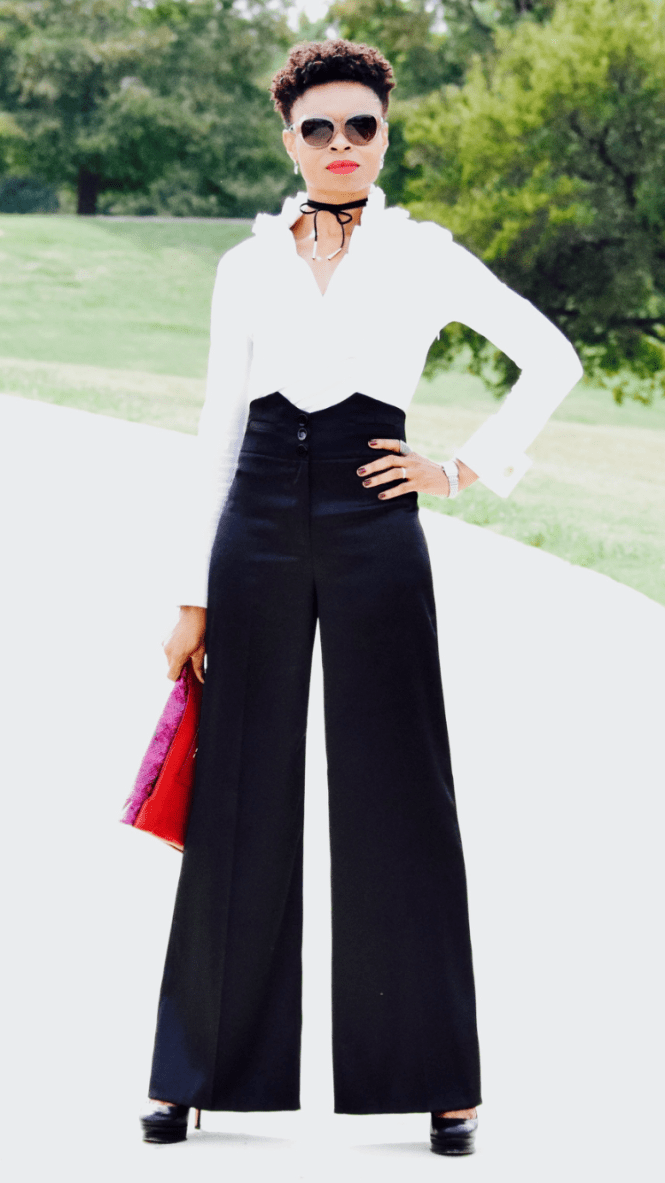High-waisted palazzo Wide-leg pants Posted by Vivellefashion