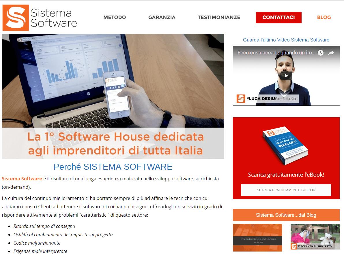 On line la nuova versione del sito Sistema Software