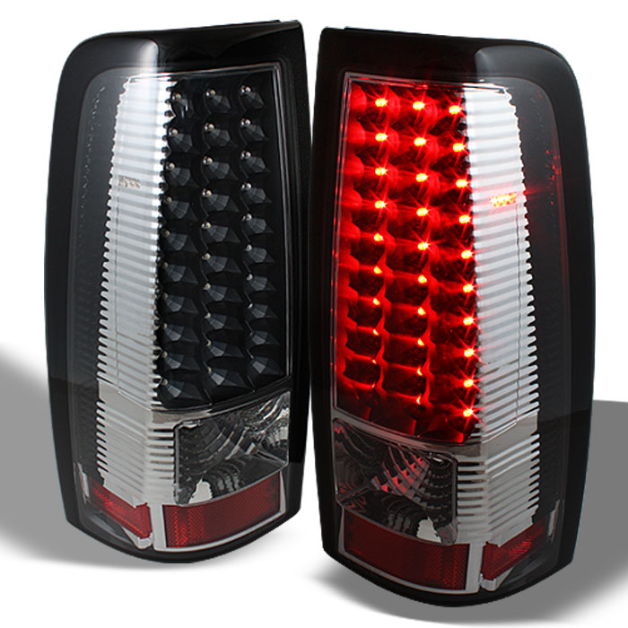 Spyder Black LED Tail Lights Chevrolet Silverado GMC Sierra 99 02