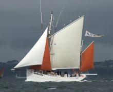 Biche, reconstruction d'un bateau du patrimoine
