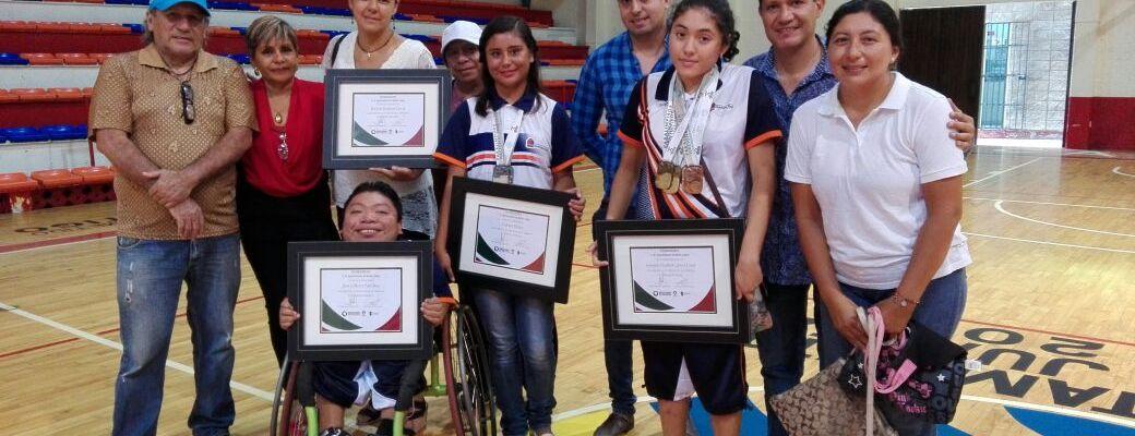 Reconoce Gobierno de Benito Juárez a atletas paralímpicos