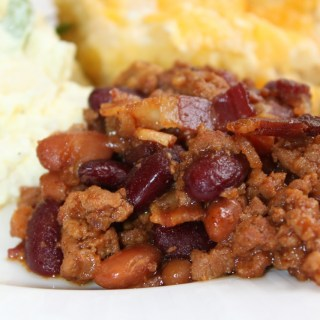 BBQ Baked Cowboy Beans - www.vixenskitchen.com