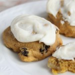 Pumpkin Cookies with Browned Butter Frosting - www.vixenskitchen.com