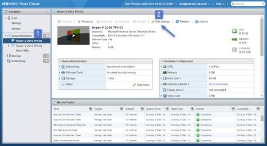 How to install Windows Server 2016 Hyper-v on VMware ESXi