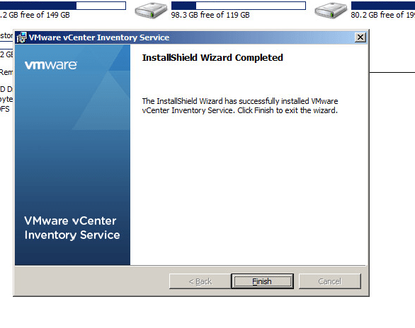 vcenter inventory service upgrade step 6