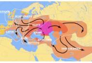 Schema migratiei Indo Europene din 4000 la 1000 ih conform cu teoria Kurganelor