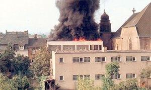 1967: Großeinsatz der Völklinger Feuerwehren beim Großbrand des katholischen Kinderheims (Bild: Stadt VK)