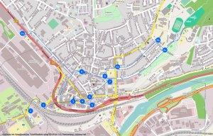 Übersichtskarte - Antippen zum Öffnen - Karten-Rohmaterial: Daten von OpenStreetMap - Veröffentlicht unter ODbL