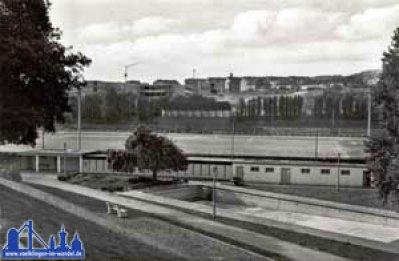 Das Hermann-Neuberger-Stadion 1960 (Stadtarchiv)