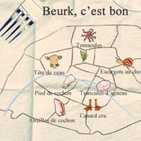 Parigi: mappa dei cibi disgustosi (da vedere)