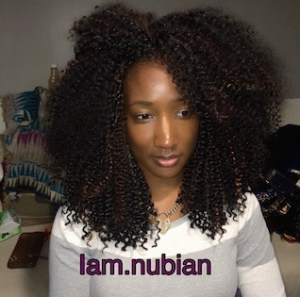 IAM.NUBIAN also shows the install of a very curly hair texture, with ...