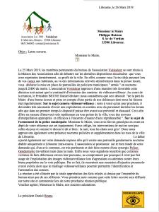 lettre ouverte BUISSON 27 Mars 2019