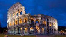 The Colosseum in Rome, with its earthquake damage