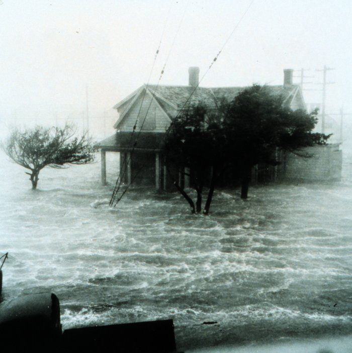 storm destroying a house