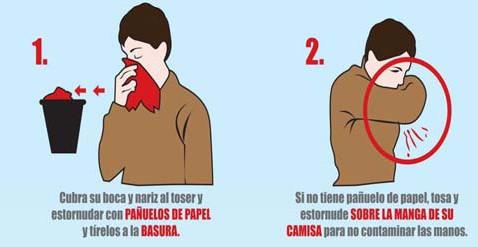 Formas correctas de estornudar para evitar contagios