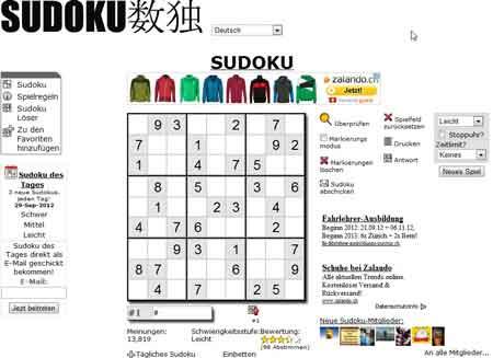 sudoku schwer online spielen