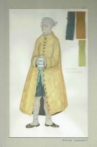 Kostuumontwerp voor aphotheker Timoteo uit De Waaier (Haagse Comedie, 1977). Ontwerp Hans Christiaan. Bron: Marjolein Sligte