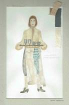 Kostuumontwerp voor bediende Limoncino uit De Waaier (Haagse Comedie, 1977). Ontwerp Hans Christiaan. Bron: Marjolein Sligte