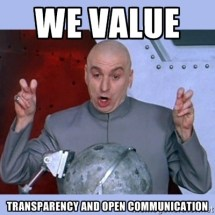we value transparency