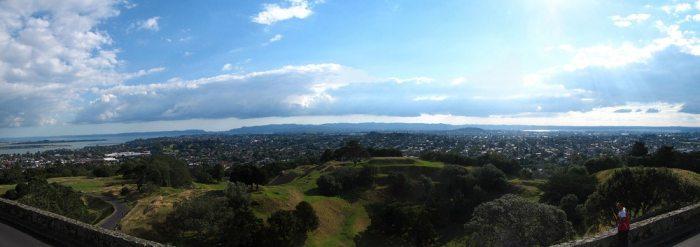 vue sur les waikatere ranges au Nord depuis one tree hill