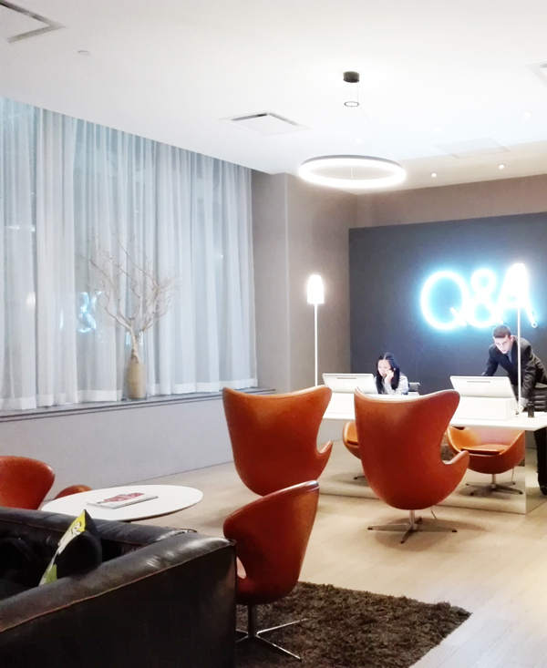 acuueil QandA hôtel