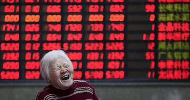 An investor reacts in front of an electronic board showing stock information at a brokerage house in Shanghai, China, March 7, 2016. REUTERS/Aly Song      TPX IMAGES OF THE DAY