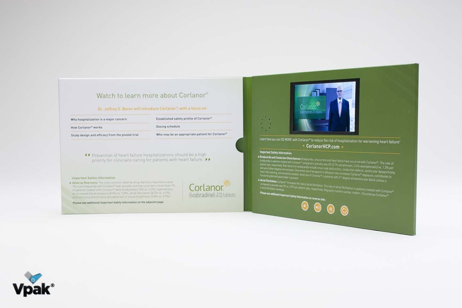 Video in print brochures  video counter displays and video business     Video in print brochures  video counter displays and video business cards