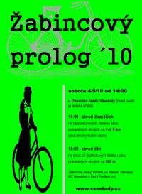 plakát: Žabincový prolog ve Všestudech 4/9/10