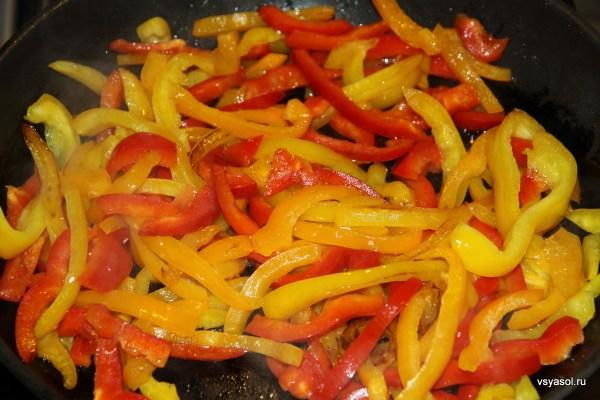 Как пожарить перец болгарский