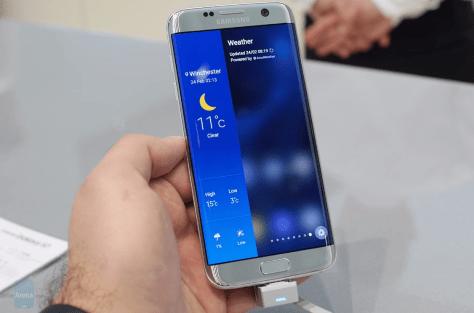 Samsung Galaxy S7 Edge Weather Panel