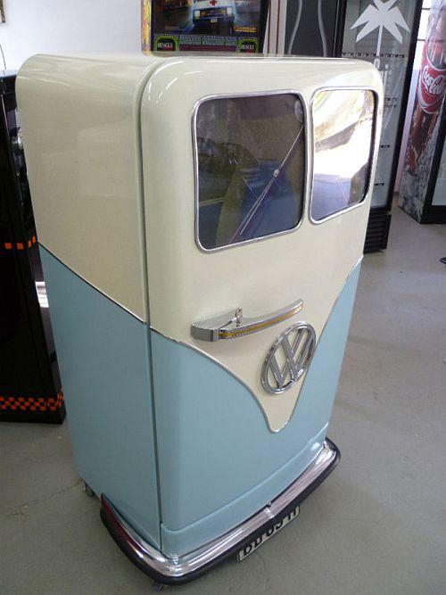 Blue VW Bus Fridge