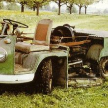 Got a big garden? You need a VW Bus Lawnmower