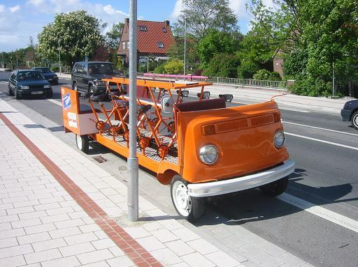 Pedal Powered WV Bus