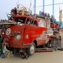 VW Camper Megalopis Art Installation