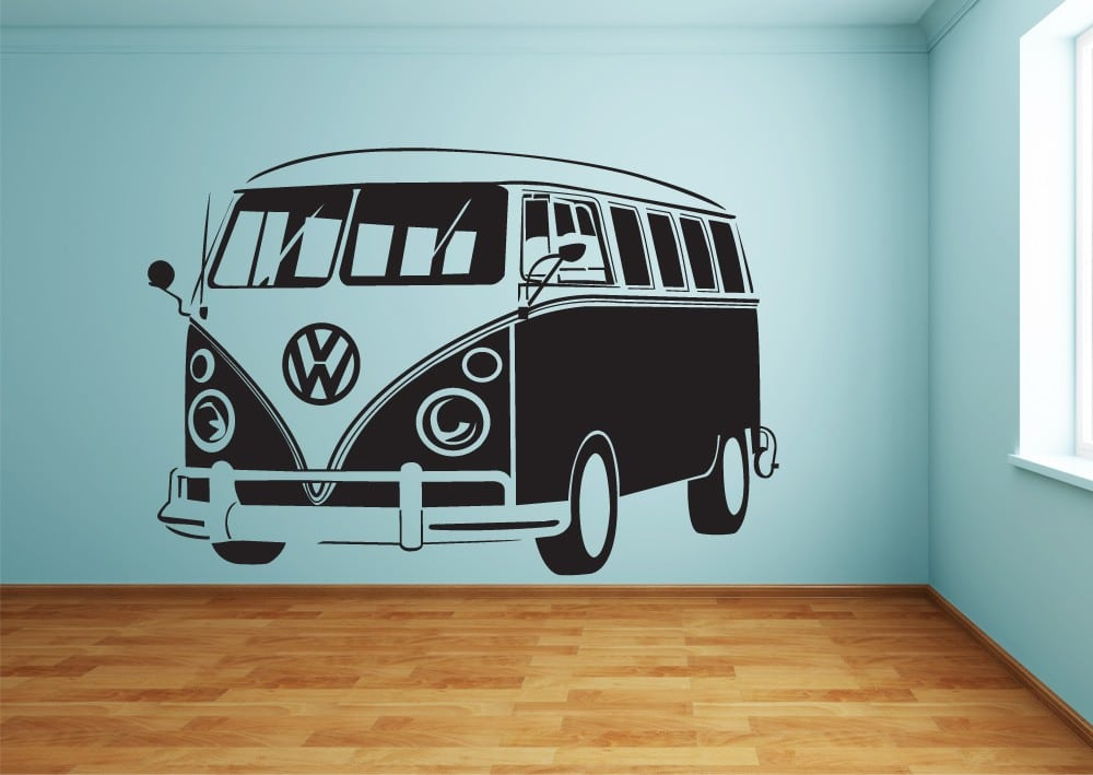 Cool and Large VW Bus Wall Stickers