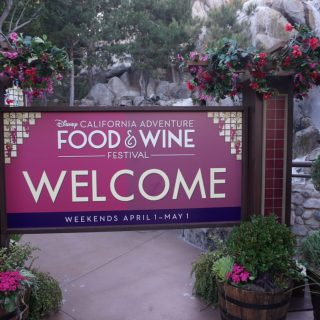 DCA food and wine festival sign