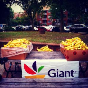 giant bananas at start