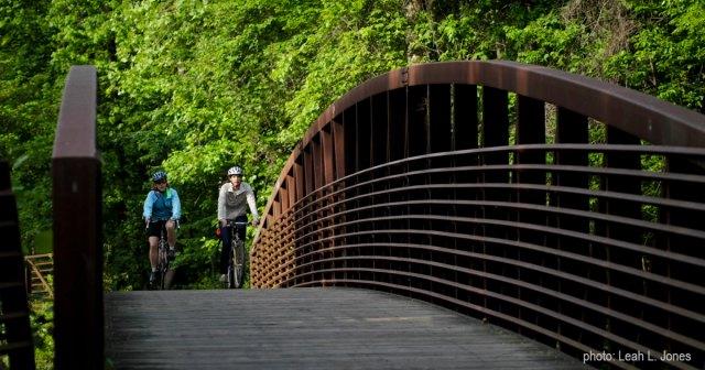 crossing bridge on Tributary Trail by Leah Jones copy