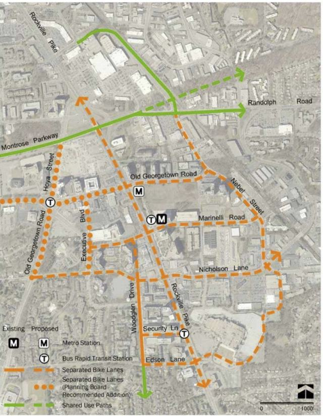 Proposed network from Montgomery Planning
