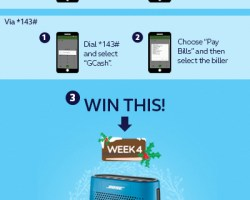 Use GCASH to pay your bills and be part of the 12 weeks of Christmas Raffle Promo