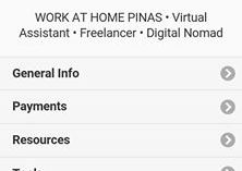Work At Home Pinas Application