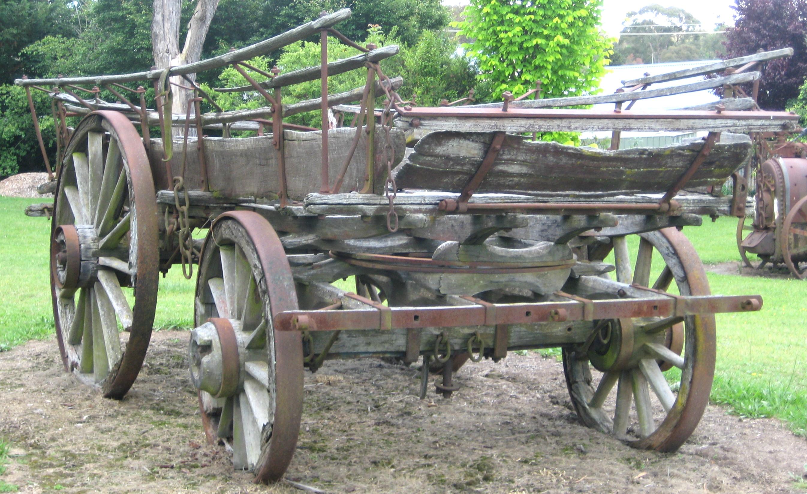 cart in yard