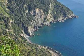 The beautiful coastline of the Cinque Terre