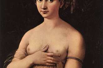 """Raphael's famed portrait, """"La Fornarina,"""" may be of his lover—but that's only one secret that the painting hides..."""