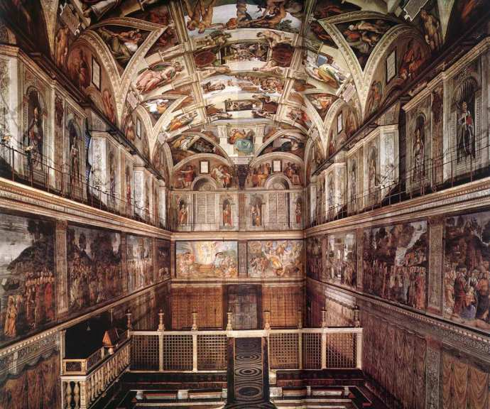 The Sistine Chapel, reopening soon after the papal conclave
