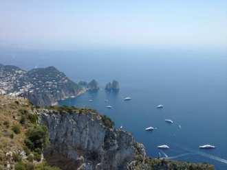 Splendid views from, Monte Solaro, the highest point of Capri.