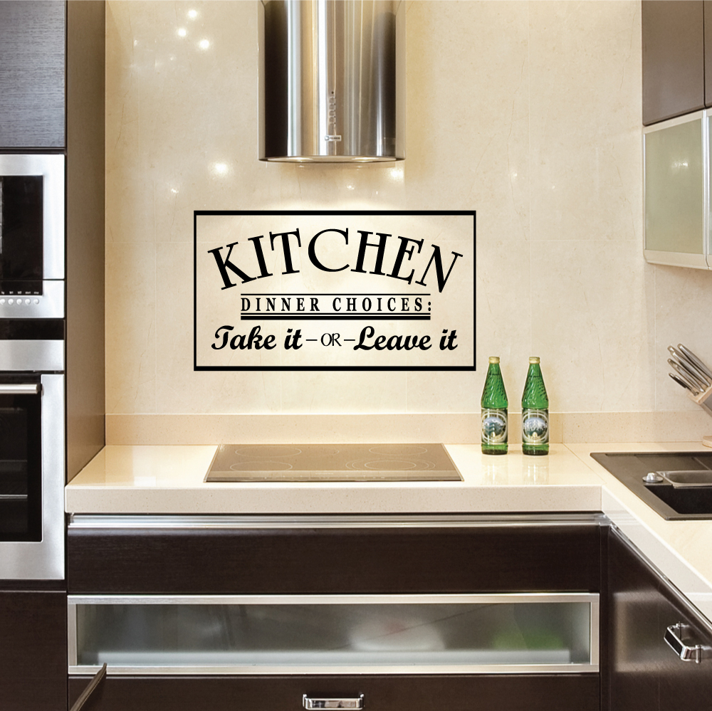 Engrossing Kitchen Dinner Take It Or Leave It Wall Art Decals Kitchen Wall Art Herbs Kitchen Wall Art Amazon houzz-03 Kitchen Wall Art
