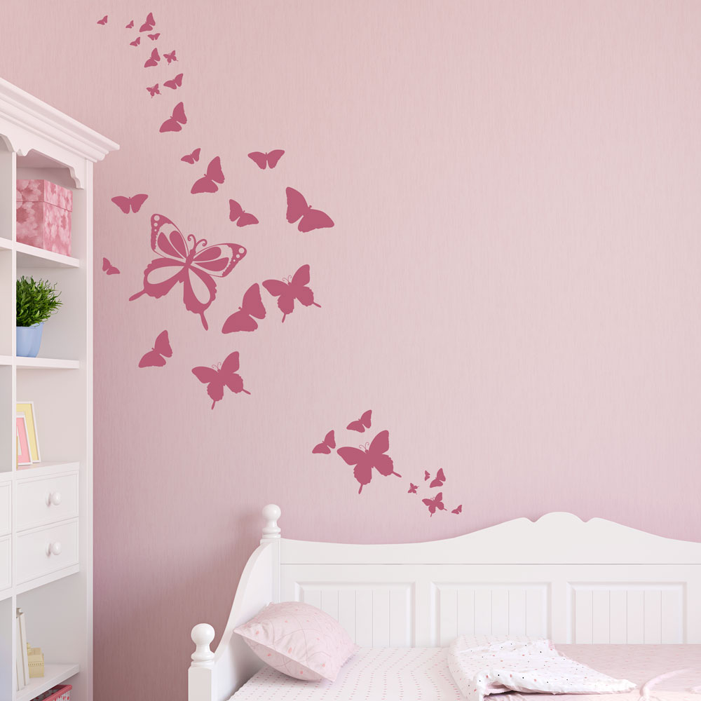 Staggering Butterfly Family Wall Decal Butterfly Wall Stickers Butterfly Wall Decals Tirupati Andhra Pradesh Butterfly Wall Decals Canada baby Butterfly Wall Decals