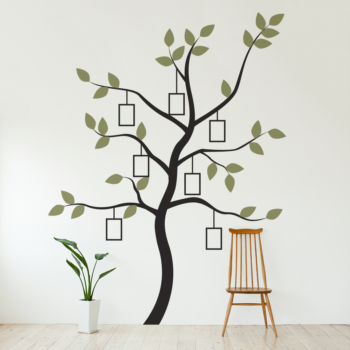 Comfortable Family Tree Wall Decal Faux Frames Family Tree Frame Walmart Family Tree Frame Template houzz-02 Family Tree Picture Frame